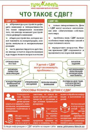 Что такое СДВГ. Инфографика.
